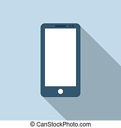 Mobile phone icon in flat style