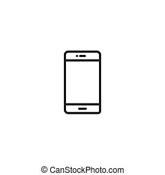 mobile phone Icon. line style vector illustration
