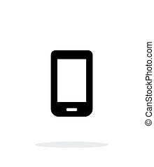 Mobile phone icon on white background.