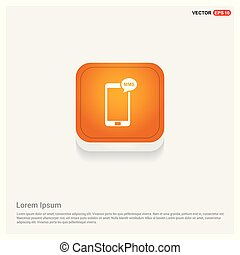 Mobile phone icon Orange Abstract Web Button