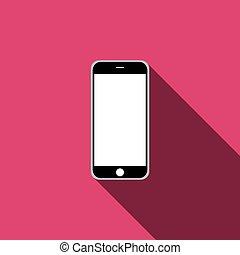 mobile phone icon. Vector illustration