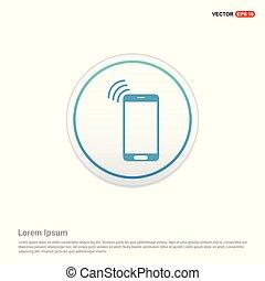 Mobile phone icon - white circle button