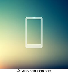 Mobile phone in flat style icon