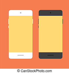 Mobile phone in flat style