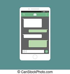 Mobile phone in social media networks