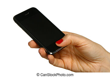 Mobile phone in the hand 1