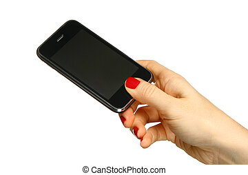 Mobile phone in the hand3