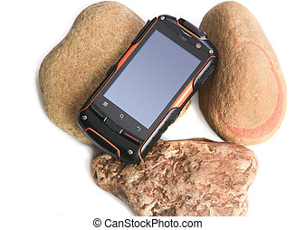 mobile phone in the shock-proof case - mobile phone in the...