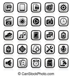 Mobile Phone Interface icons