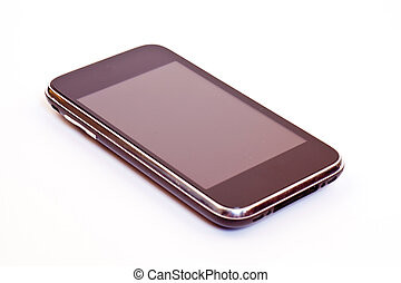 Mobile phone isolated on a white background.