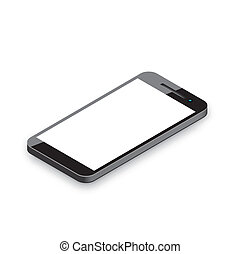 Mobile phone isolated on white. Re