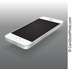Mobile phone isolated on white.