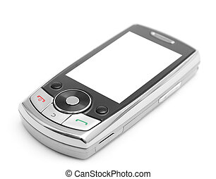 mobile phone isolated on white