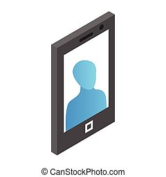 Mobile phone isometric 3d icon