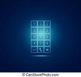 Mobile Phone Keypad Illustration - Illustration of a glowing...