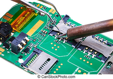 Mobile phone mainboard fix - Electronic technician repairs ...