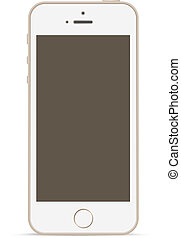 Mobile phone mockup design template. Touchscreen technology.