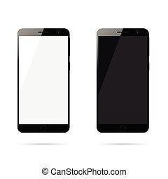 mobile phone modern set illustration - mobile phone modern...