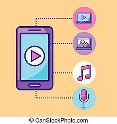 mobile phone multimedia social media network