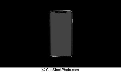 Mobile phone on a black background 3D model. 31 - Mobile...