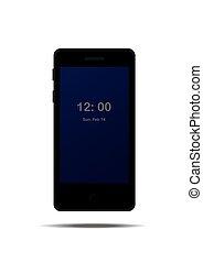 Mobile phone on white background..eps