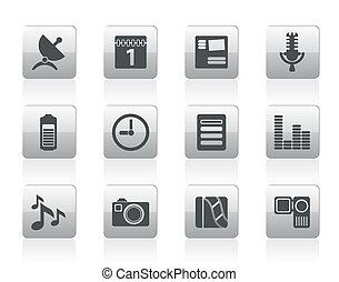 Mobile phone performance icons