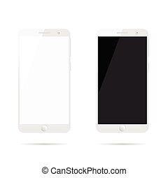 mobile phone set design illustration - mobile phone set...