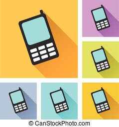 mobile phone set icons