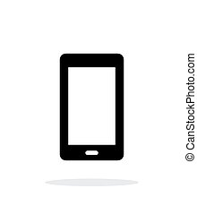 Mobile phone simple icon on white background.