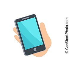 Mobile Phone Smartphone Hand Vector Illustration