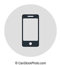 Mobile phone, smartphone icon. Stock Vector illustration.
