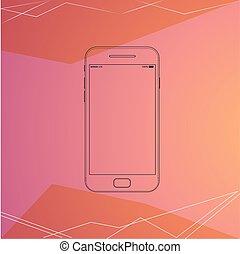 Mobile Phone, Smartphone, Line Art