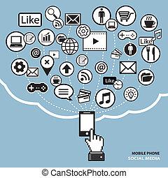 mobile phone social media concept
