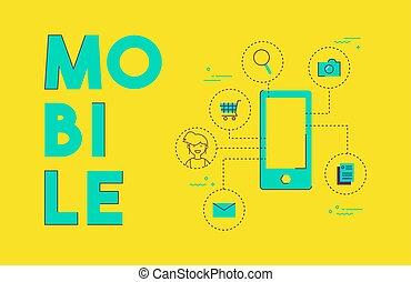 Mobile phone social media network concept design
