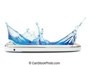 Mobile phone splash