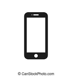 Mobile phone vector icon in modern design style for web site and mobile app