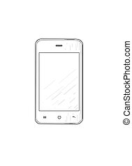 Mobile phone - vector illustration.