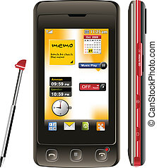 mobile phone - Vector illustration of touch screen mobile.