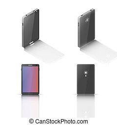 Mobile phone, vector illustration.