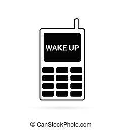 mobile phone vector in black