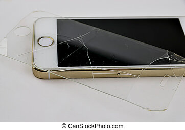 mobile phone with broken touchscreen