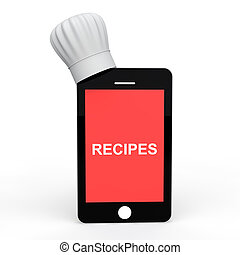 Mobile phone with chef hat