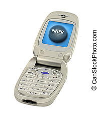 mobile phone with enter button