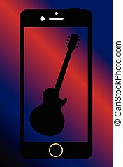 Mobile Phone With Guitar