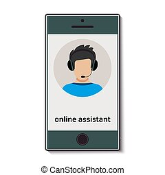 Mobile phone with online assistant who advises