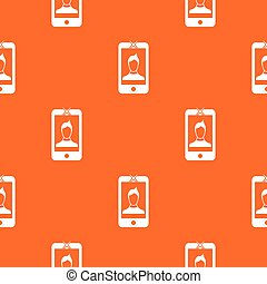 Mobile phone with photo pattern seamless