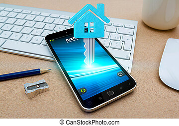 Mobile phone with real estate application