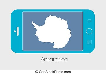 Mobile Phone with the Flag of Antartica - Mobile Phone...
