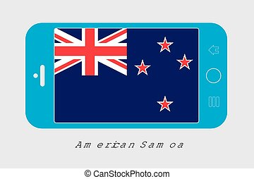 Mobile Phone with the Flag of New Zealand