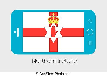 Mobile Phone with the Flag of Northern Ireland